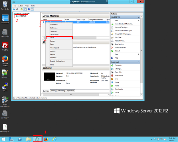 Shutdown & Start Hyper-V Server Host and Virtual Machines